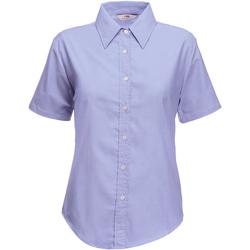 Vêtements Femme Chemises / Chemisiers Fruit Of The Loom Oxford Bleu clair