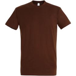 Vêtements Homme T-shirts manches courtes Sols Imperial Marron