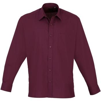 Vêtements Homme Chemises manches longues Premier PR200 Aubergine