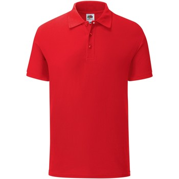 Vêtements Homme Polos manches courtes Fruit Of The Loom Iconic Rouge