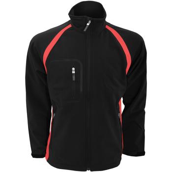 Vêtements Homme Blousons Finden & Hales Softshell Noir/Rouge