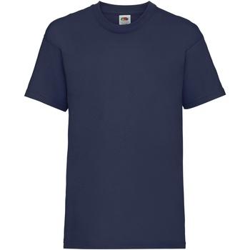 Vêtements Enfant T-shirts manches courtes Fruit Of The Loom 61033 Bleu marine
