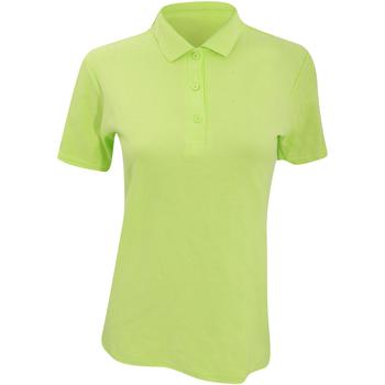 Vêtements Femme Polos manches courtes Anvil Pique Vert citron