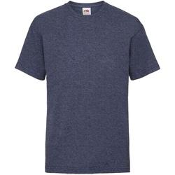 Vêtements Enfant T-shirts manches courtes Fruit Of The Loom 61033 Bleu marine vintage chiné