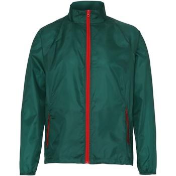 Vêtements Homme Coupes vent 2786 Contrast Vert bouteille/Rouge