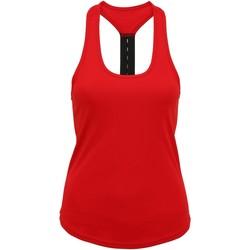 Vêtements Femme Débardeurs / T-shirts sans manche Tridri Performance Rouge feu