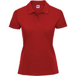 Vêtements Femme Polos manches courtes Russell Polo 100% coton à manches courtes RW3279 Rouge classique