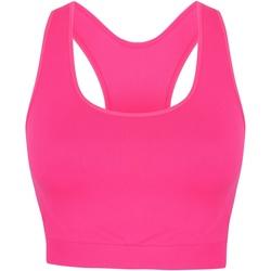 Vêtements Femme Débardeurs / T-shirts sans manche Skinni Fit Cropped Rose néon