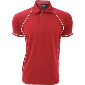 Vêtements Homme Polos manches courtes Finden & Hales Piped Rouge/Blanc