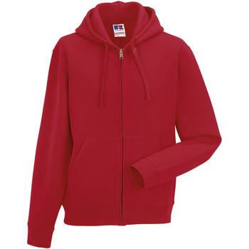 Vêtements Homme Sweats Russell Sweatshirt à capuche et fermeture zippée BC1499 Rouge