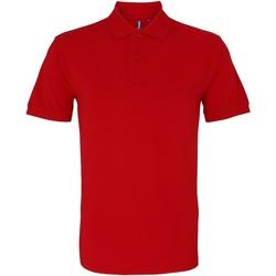 Vêtements Homme Polos manches courtes Asquith & Fox AQ010 Rouge cerise