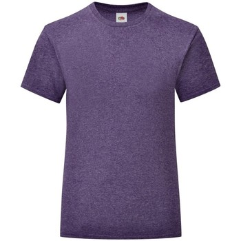 Vêtements Fille T-shirts manches courtes Fruit Of The Loom Iconic Violet chiné