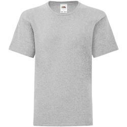 Vêtements Femme T-shirts manches courtes Fruit Of The Loom Original Gris