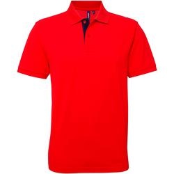 Vêtements Homme Polos manches courtes Asquith & Fox Contrast Rouge/Bleu marine
