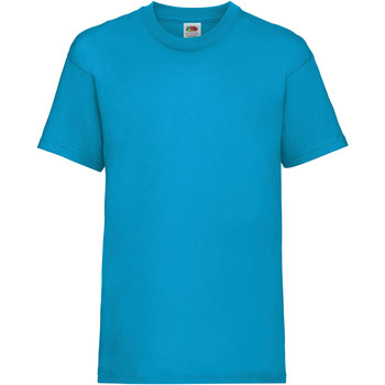 Vêtements Enfant T-shirts manches courtes Fruit Of The Loom 61033 Bleu azur