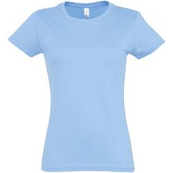 Vêtements Femme T-shirts manches courtes Sols Imperial Bleu ciel
