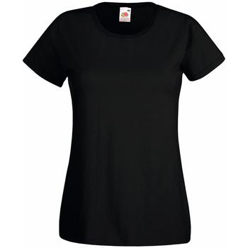 Vêtements Femme T-shirts manches courtes Universal Textiles Casual Noir
