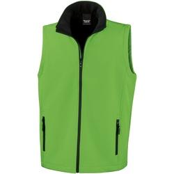 Vêtements Homme Gilets / Cardigans Result R232M Vert / Noir