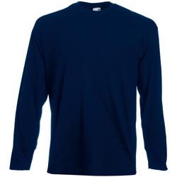 Vêtements Homme T-shirts manches longues Universal Textiles 61038 Bleu nuit