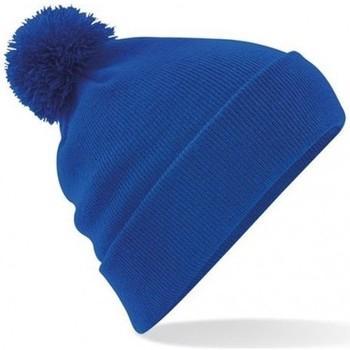 Accessoires textile Bonnets Beechfield Pom Pom Bleu roi vif