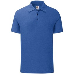 Vêtements Homme Polos manches courtes Fruit Of The Loom Iconic Bleu roi chiné