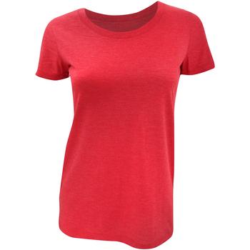 Vêtements Femme T-shirts manches courtes Bella + Canvas Triblend Rouge