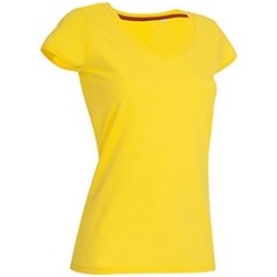 Vêtements Femme T-shirts manches courtes Stedman Stars Megan Jaune