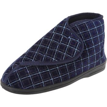 Chaussures Homme Chaussons Zedzzz Check Bleu marine