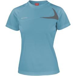 Vêtements Femme T-shirts manches courtes Spiro Performance Eau/Gris