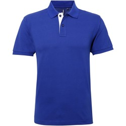 Vêtements Homme Polos manches courtes Asquith & Fox Contrast Bleu roi/Blanc