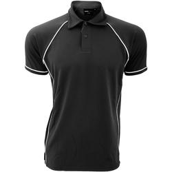Vêtements Homme Polos manches courtes Finden & Hales Piped Noir/Blanc