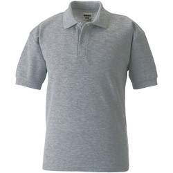 Vêtements Garçon Polos manches courtes Jerzees Schoolgear 65/35 Gris clair