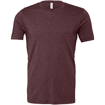 Vêtements Homme T-shirts manches courtes Bella + Canvas Jersey Bordeaux chiné