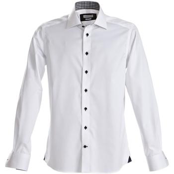 Vêtements Homme Chemises manches longues J Harvest & Frost Red Bow Blanc/Bleu marine