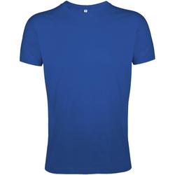 Vêtements Homme T-shirts manches courtes Sols Slim Fit Bleu roi