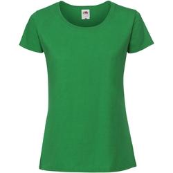 Vêtements Femme T-shirts manches courtes Fruit Of The Loom Premium Vert