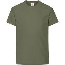 Vêtements Enfant T-shirts manches courtes Fruit Of The Loom Original Olive