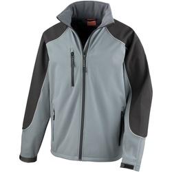 Vêtements Homme Polaires Result Hooded Gris/Noir
