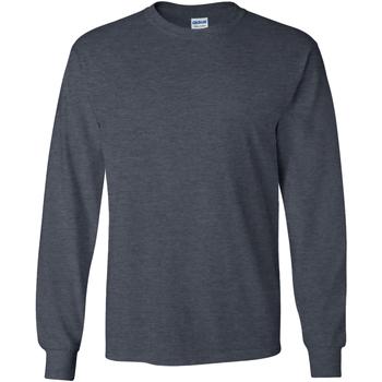 Vêtements Homme T-shirts manches longues Gildan 2400 Gris chiné