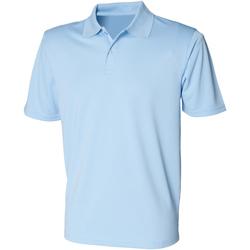 Vêtements Homme Polos manches courtes Henbury HB475 Bleu clair