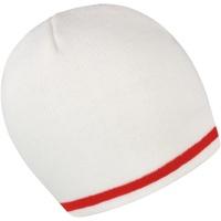 Accessoires textile Bonnets Result Essentials Blanc/Rouge