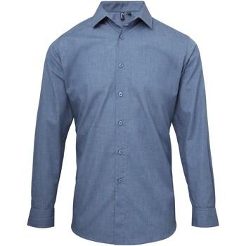 Vêtements Homme Chemises manches longues Premier PR217 Indigo