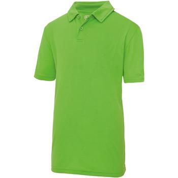 Vêtements Enfant Polos manches courtes Just Cool Plain Vert citron