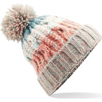 Accessoires textile Bonnets Beechfield Pom Pom Milkshake Mix