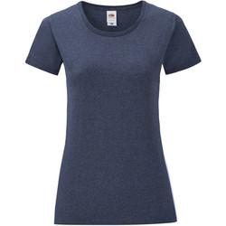 Vêtements Fille T-shirts manches courtes Fruit Of The Loom Iconic Bleu marine chiné