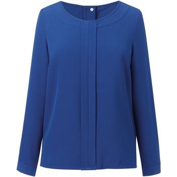 Vêtements Femme Tops / Blouses Brook Taverner Crepe De Chine Bleu roi
