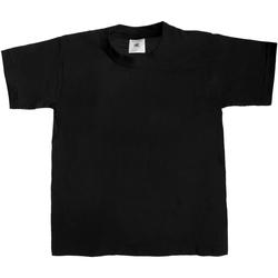 Vêtements Enfant T-shirts manches courtes B And C TK301 Noir