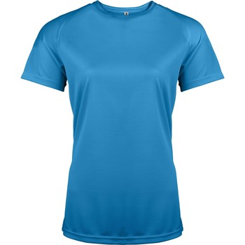 Vêtements Femme T-shirts manches courtes Kariban Proact Performance Bleu eau