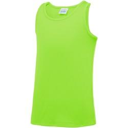 Vêtements Enfant Débardeurs / T-shirts sans manche Awdis JC07J Vert électrique