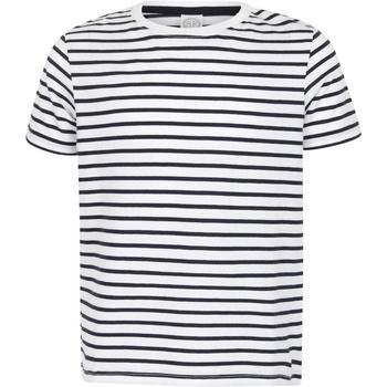 Vêtements Enfant T-shirts manches courtes Skinni Fit Striped Blanc / bleu marine